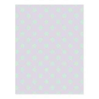Polka Dots Large - Pale Green on Pale Violet Postcard