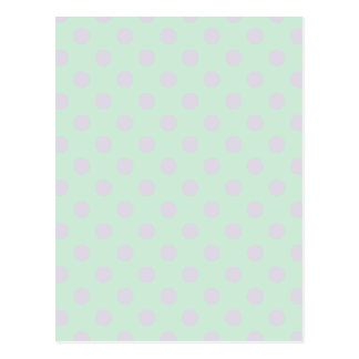 Polka Dots Large - Pale Violet and Pale Green Postcard