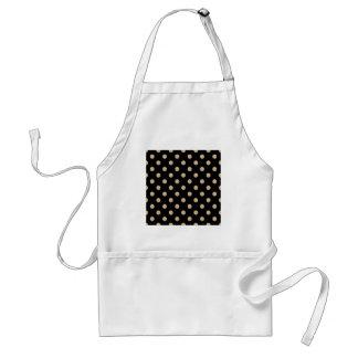Polka Dots Large - Tan on Black Apron