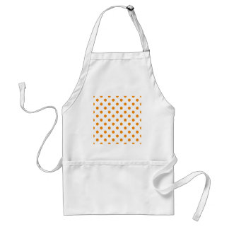 Polka Dots Large - Tangerine on White Aprons
