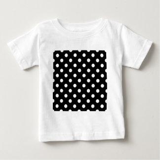 Polka Dots Large - White on Black T-shirt
