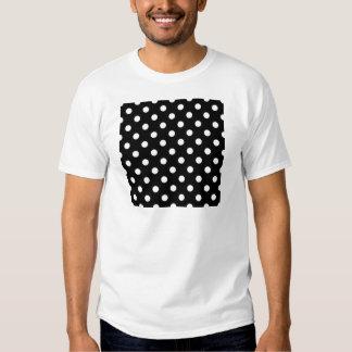 Polka Dots Large - White on Black Tee Shirt