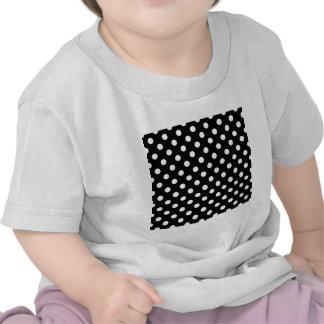 Polka Dots Large - White on Black T Shirt