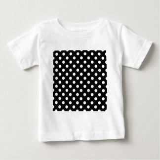 Polka Dots Large - White on Black Tshirt