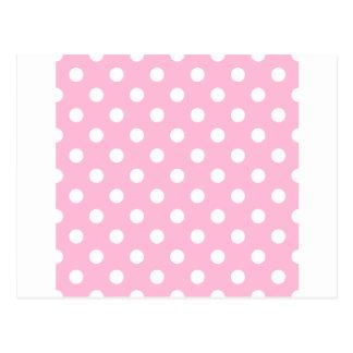 Polka Dots Large - White on Cotton Candy Postcard