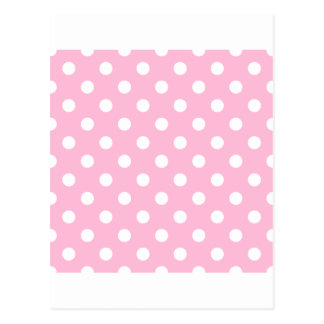Polka Dots Large - White on Cotton Candy Postcard