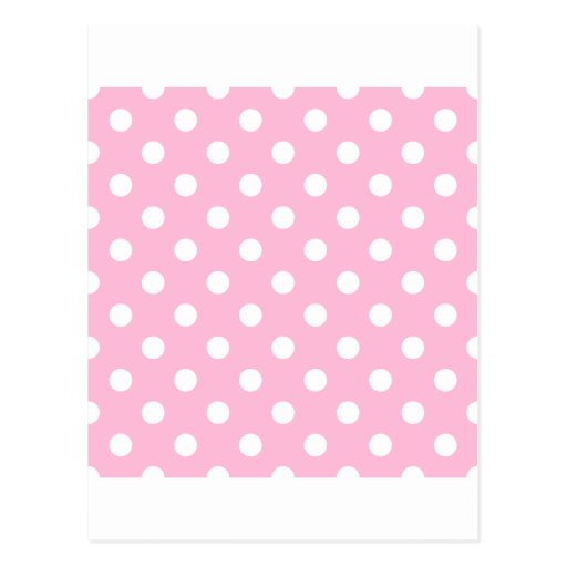 Polka Dots Large - White on Cotton Candy Postcards