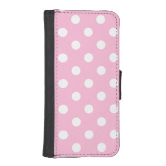 Polka Dots Large - White on Cotton Candy Phone Wallet Cases
