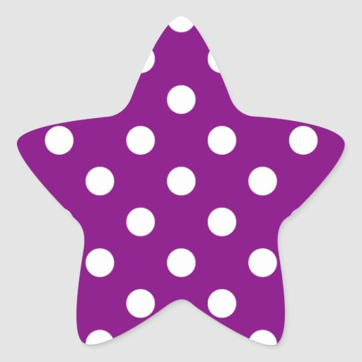 Polka Dots Large - White on Purple Sticker