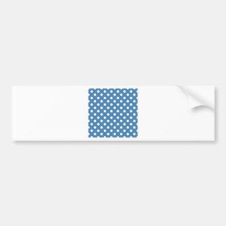 Polka Dots Large - White on Steel Blue Bumper Sticker