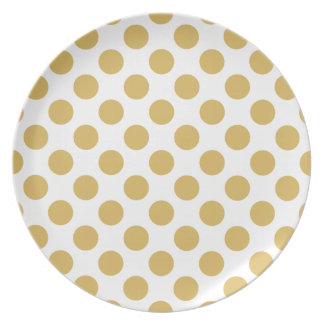 Polka Dots Misted Yellow Plate