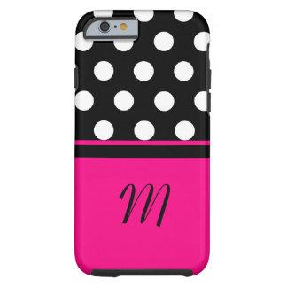Polka Dots Monogram Case Tough iPhone 6 Case