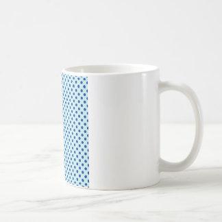 Polka Dots - Navy Blue on Pale Blue Coffee Mug