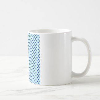 Polka Dots - Navy Blue on Pale Blue Basic White Mug