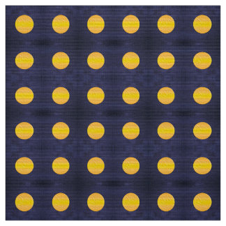 Polka dots night pattern fabric