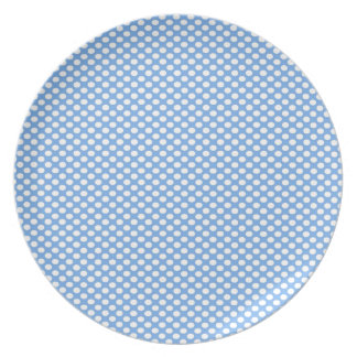 Polka Dots on Blue Party Plate