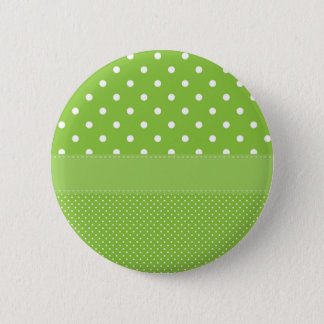 polka-dots on green 6 cm round badge