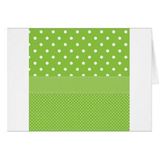 polka-dots on green card