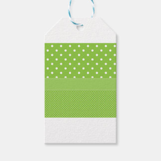 polka-dots on green gift tags