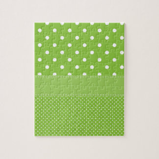 polka-dots on green jigsaw puzzle