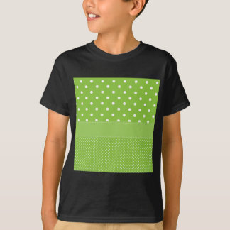 polka-dots on green T-Shirt