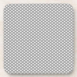 Polka Dots on Grey Coasters