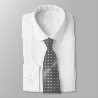 Polka Dots on Grey Metallic Tie