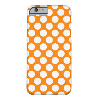 Polka Dots on Orange Barely There iPhone 6 Case