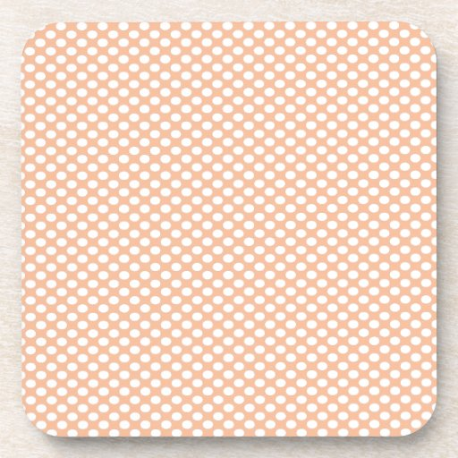 Polka Dots on Peach Coaster