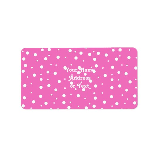 Polka Dots on Pink Background Address Label