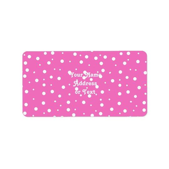 Polka Dots on Pink Background Label