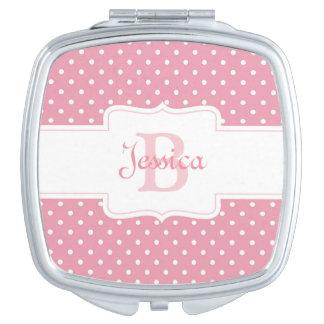 Polka Dots on Pink Vanity Mirrors