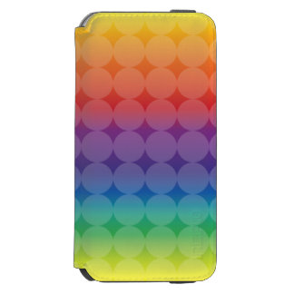 Polka Dots on Rainbow Incipio Watson™ iPhone 6 Wallet Case