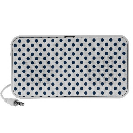 Polka Dots - Oxford Blue on White Mp3 Speakers