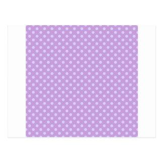 Polka Dots - Pale Lavender on Wisteria Postcard