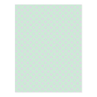 Polka Dots - Pale Violet and Pale Green Postcard