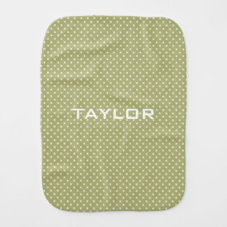 Polka Dots Pattern custom monogram burp cloth