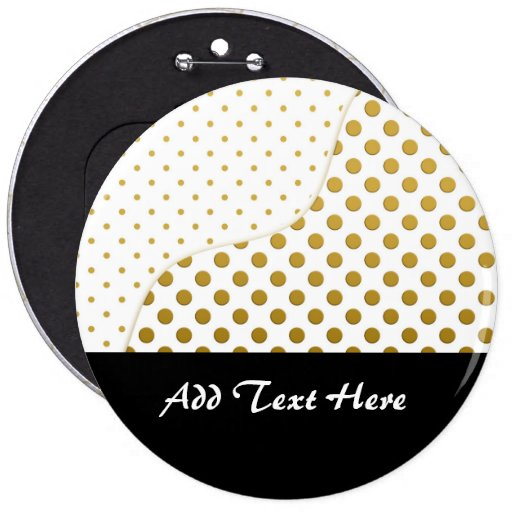 Polka Dots Pattern in Gold and White Pins