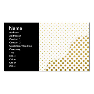 Polka Dots Pattern in Gold and White Business Card Template