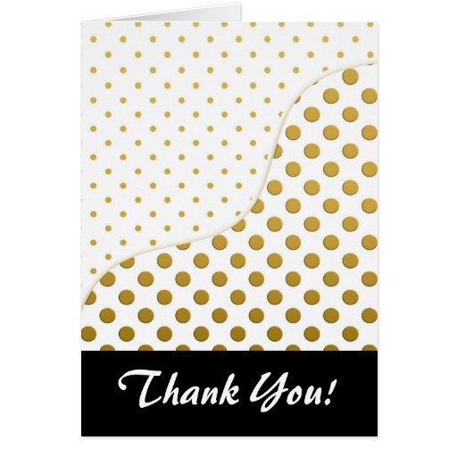 Polka Dots Pattern in Gold and White Greeting Card