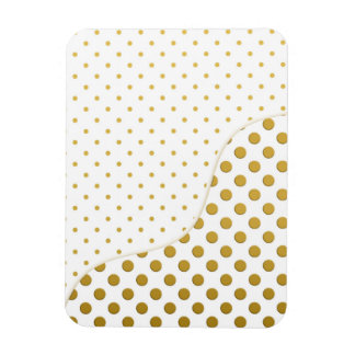 Polka Dots Pattern in Gold and White Magnet
