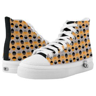 Polka Dots Pattern Modern Retro Chic Stylish Cool High Tops