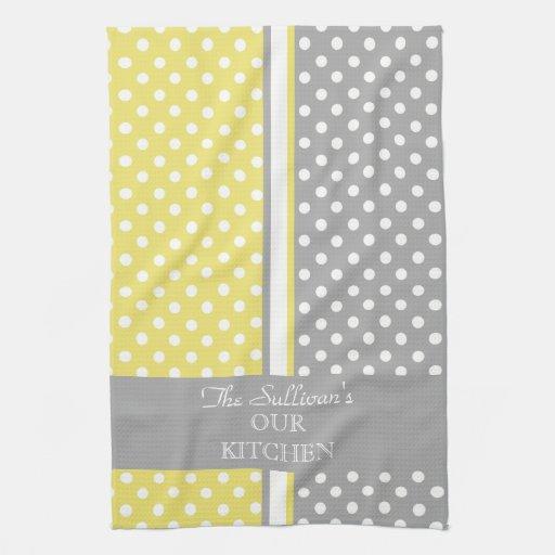 Polka Dots Personalized Kitchen Towels