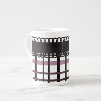 Polka Dots & Plaid Party ~ Pink Porcelain Mugs