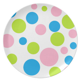 """""""Polka Dots"""" Party Plate"""