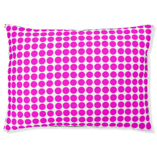 Polka Dots Print Lemon White Pink Pet Bed