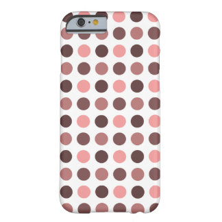Polka Dots Print Pattern - Monochromatic Color Barely There iPhone 6 Case