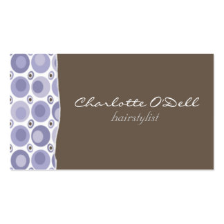 polka dots; purple pack of standard business cards