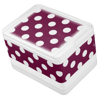 Polka Dots Purple Cooler