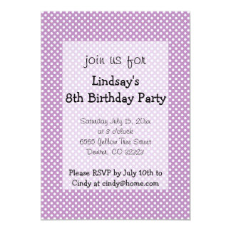 Polka Dots Purple Girl Birthday Party Invitation